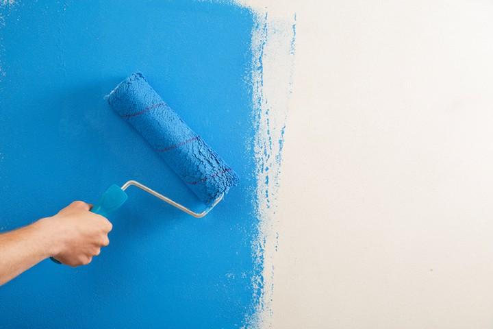 Gyproc schilderen met een eerste afwerkingslaag
