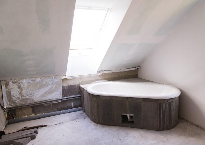 Gyproc zolder - Gipsplaten in badkamer