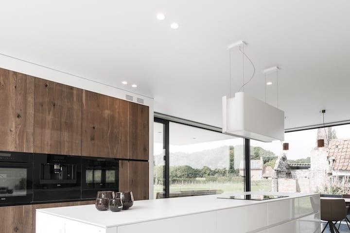 Spanplafond in de keuken - © Helixe